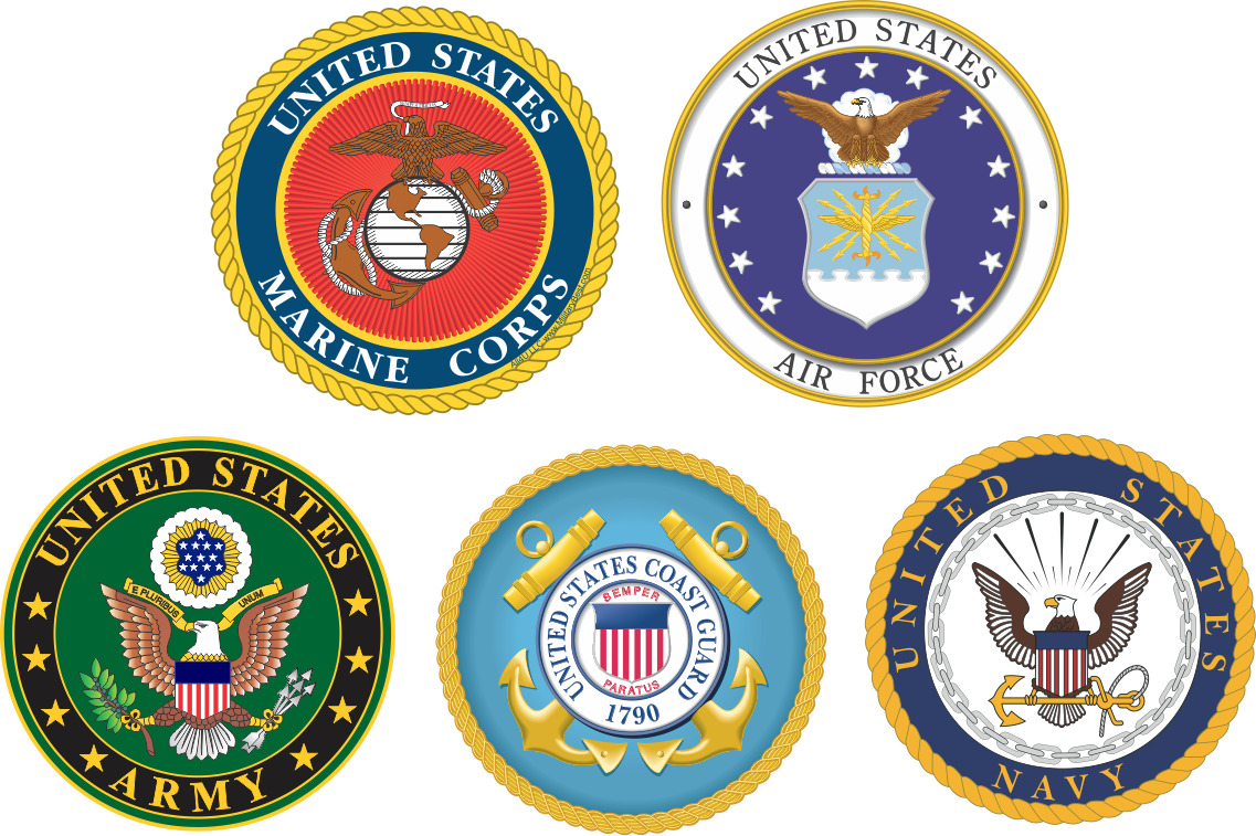 Seals of the different military branches